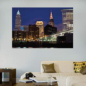 Cleveland Skyline Mural Fathead Wall Decal